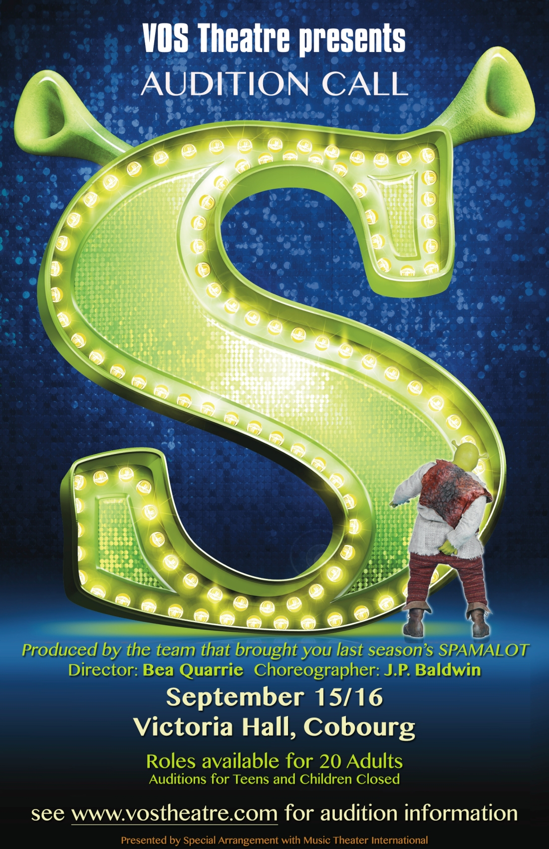 Auditions for Shrek the Musical are this Weekend!