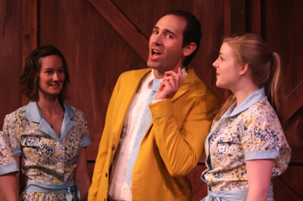 Joel Varty in White Christmas with Jenn Appleman and Samantha Clark