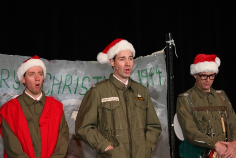 Joel Varty, Steve Shortt, and Sean Winchester in White Christmas
