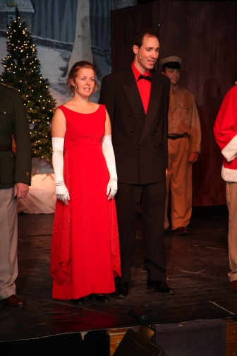 Marlena Sculthorpe and Joel Varty in White Christmas
