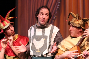 Joel Varty, Rémi Mireault, and Hugh Stewart in Spamalot
