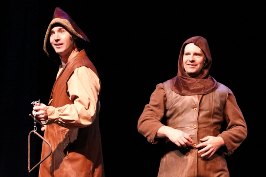 Joel Varty and Jamie Hunt in Spamalot