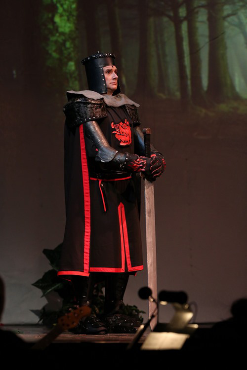 Steve as the  Black Knight in Spamalot