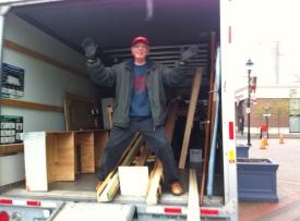 Alan Fletcher in the truck