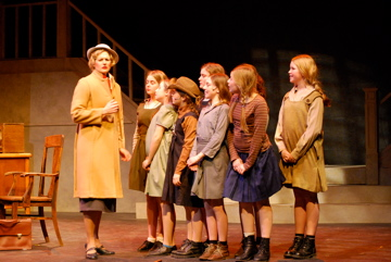 Angela Main in the Northumberland Players production of Annie