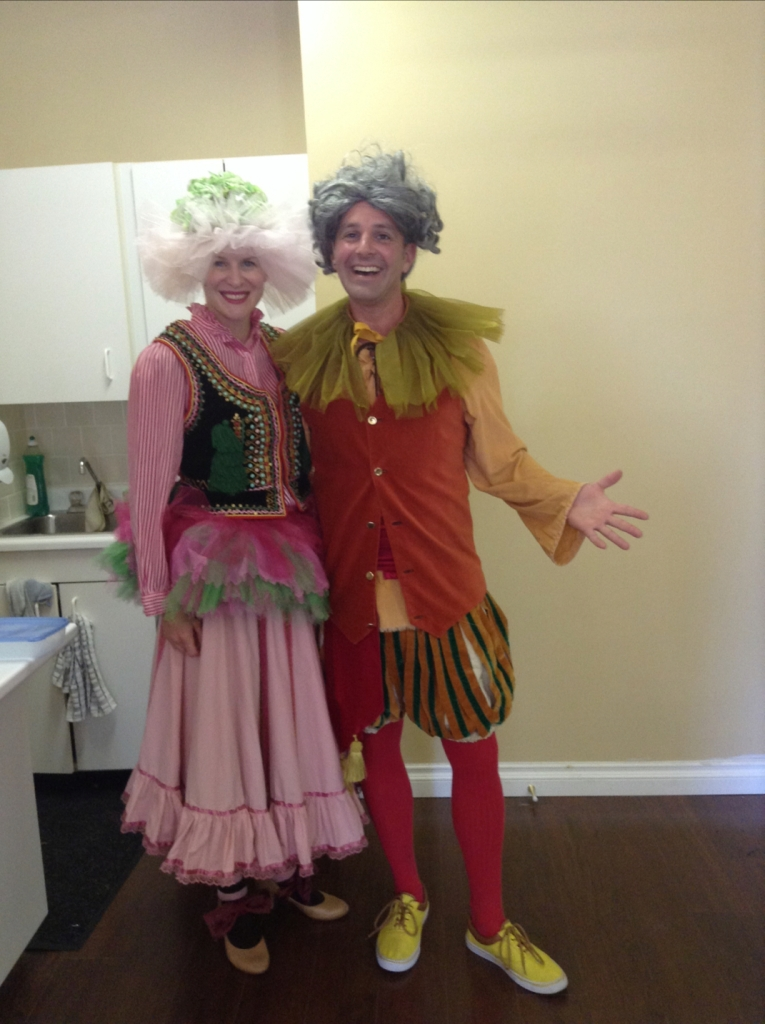 Angela & Stacy backstage at the Port Hope Festival Theatre production of Mary Poppins