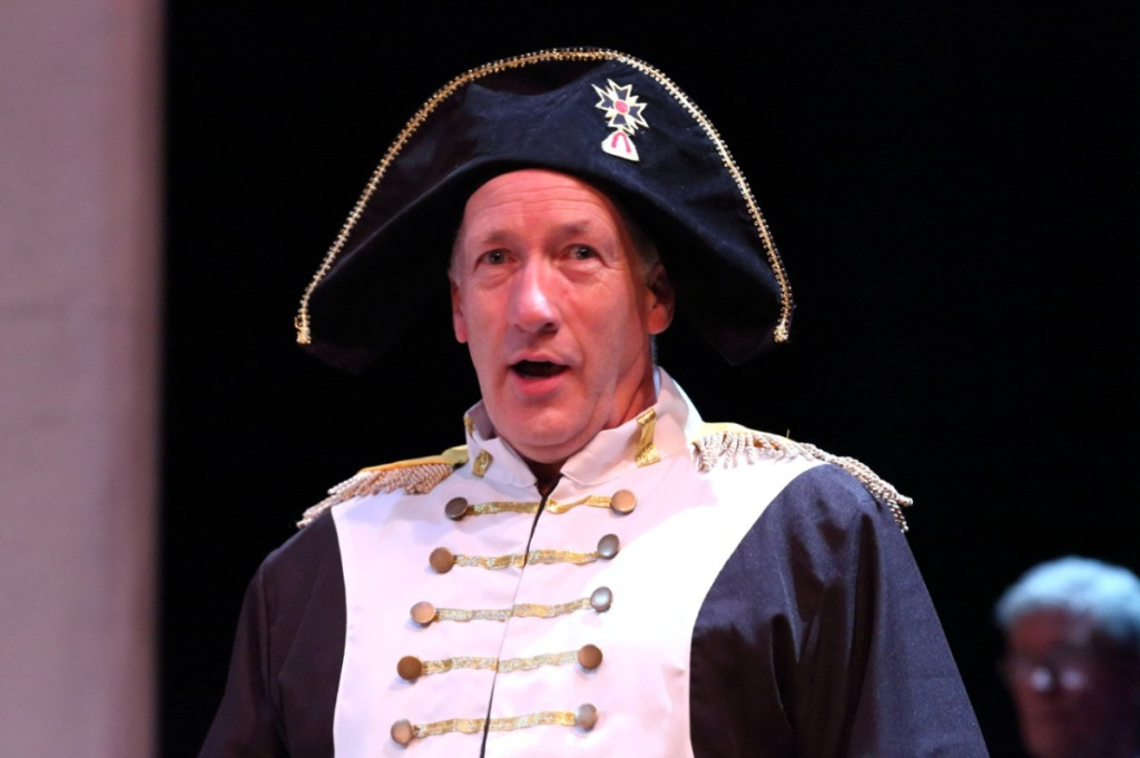 Hugh as a Frenchie in Spamalot