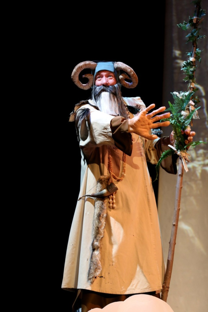 Hugh Stewart as Tim in Spamalot