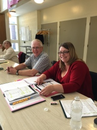 Our attentive Stage Management team of Alan Fletcher and Lannette Donnelly taking notes and keeping track of every detail. (Co-director Bea Quarrie to the left)