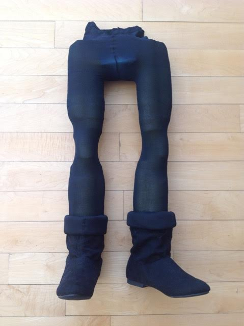 A prototype of Lord Farquaad's legs from Shrek the Musical.