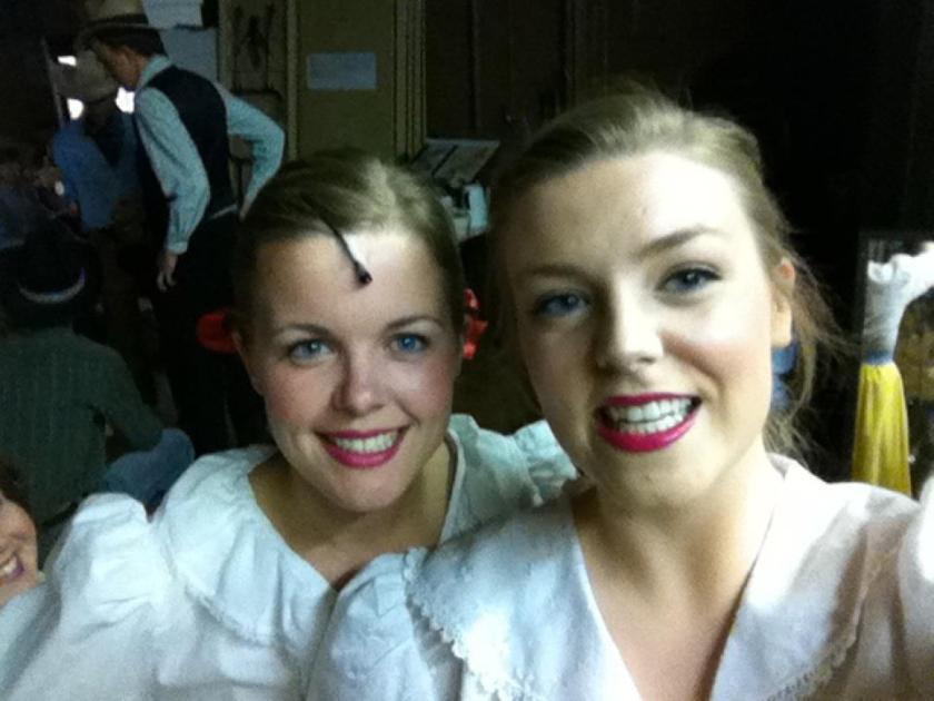 Marlena & Sam backstage at Oklahoma (2012)