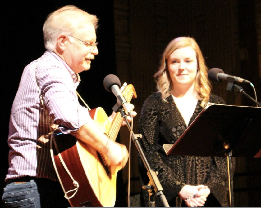 Bob Clark performs with daughter Sam