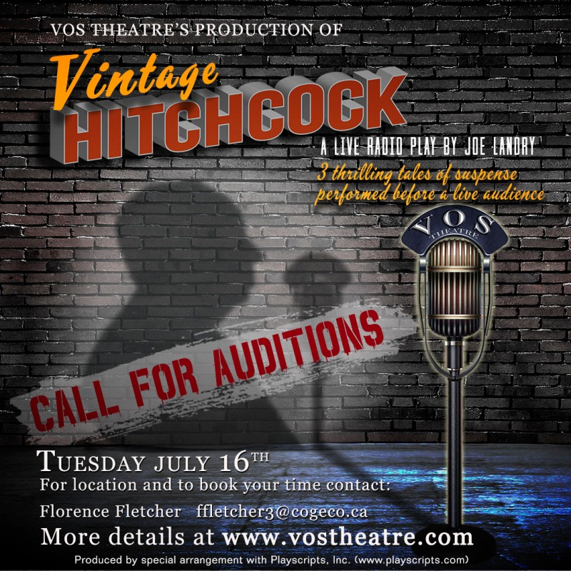 Audition Call: Vintage Hitchcock - A Live Radio Play